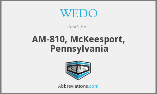 WEDO - AM-810, McKeesport, Pennsylvania