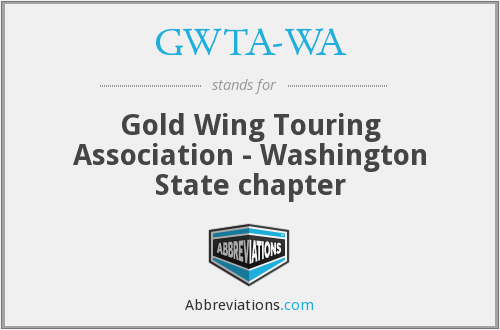 GWTA-WA - Gold Wing Touring Association - Washington State chapter