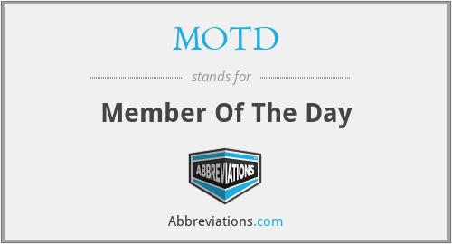 MOTD - Member Of The Day