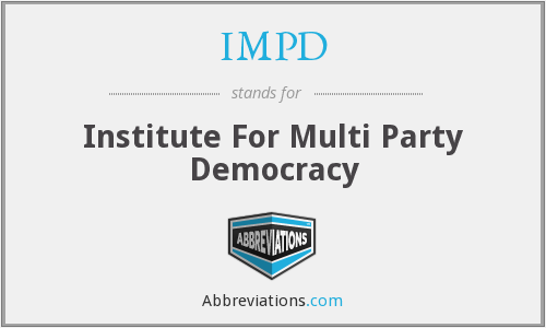 IMPD - Institute For Multi Party Democracy