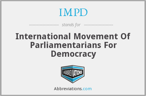 IMPD - International Movement Of Parliamentarians For Democracy