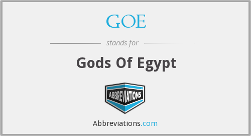 GOE - Gods Of Egypt