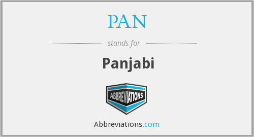 PAN - Panjabi
