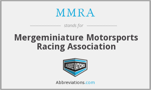 MMRA - Mergeminiature Motorsports Racing Association