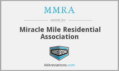 MMRA - Miracle Mile Residential Association
