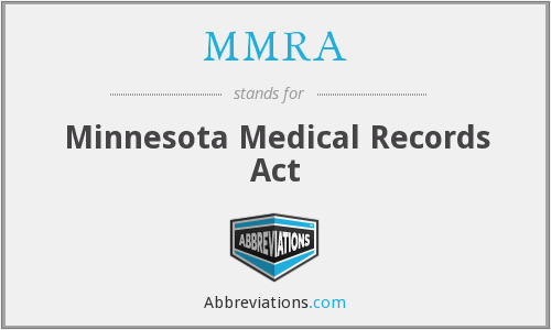 MMRA - Minnesota Medical Records Act
