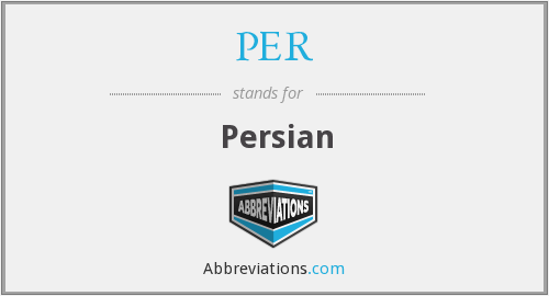 What does Persian stand for?