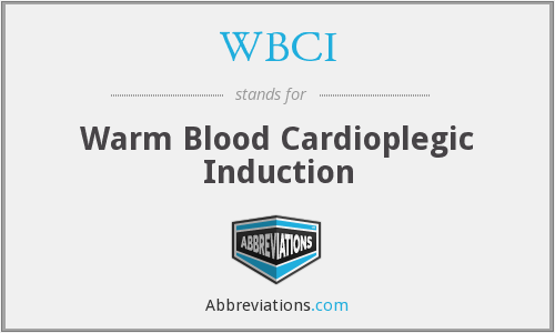 WBCI - Warm Blood Cardioplegic Induction