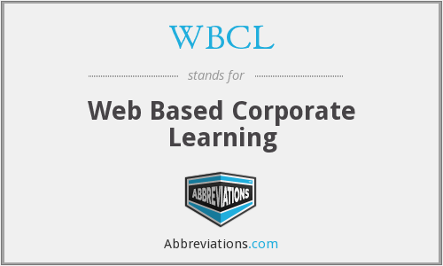 WBCL - Web Based Corporate Learning