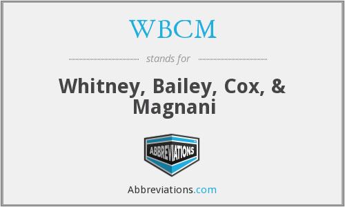 What does WBCM stand for?