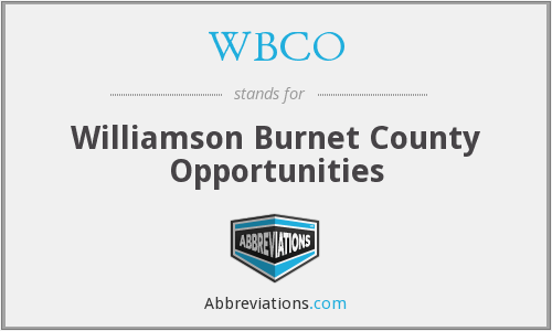 WBCO - Williamson Burnet County Opportunities