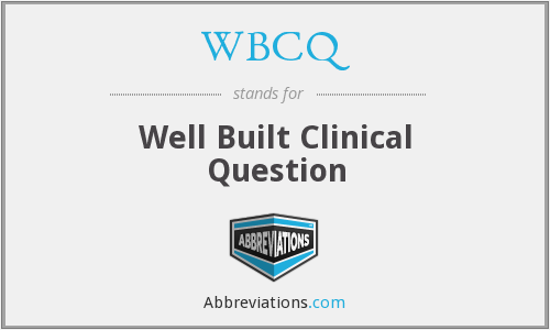 What does WBCQ stand for?