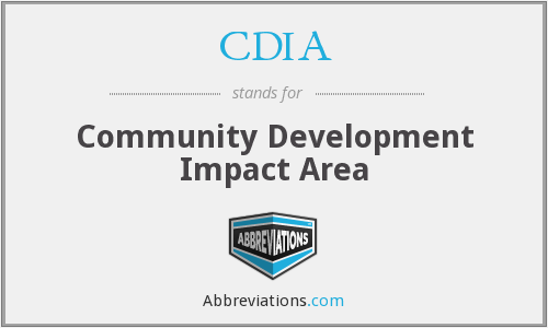 CDIA - Community Development Impact Area