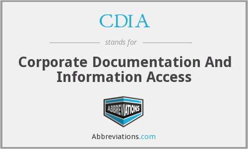 CDIA - Corporate Documentation And Information Access