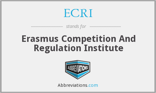ECRI - Erasmus Competition And Regulation Institute