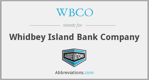 WBCO - Whidbey Island Bank Company