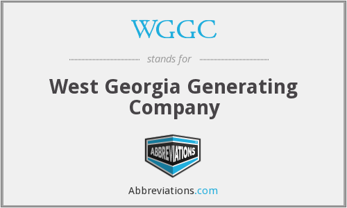 WGGC - West Georgia Generating Company