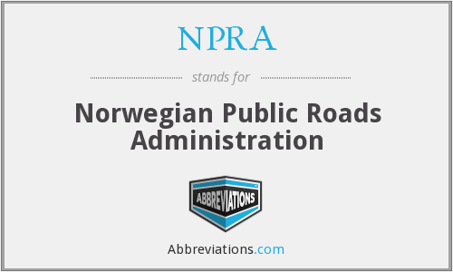 NPRA - Norwegian Public Roads Administration