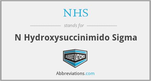 NHS - N Hydroxysuccinimido Sigma