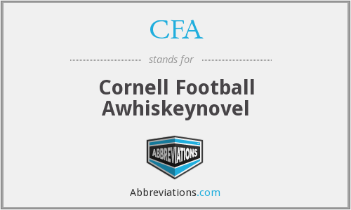 CFA - Cornell Football Awhiskeynovel