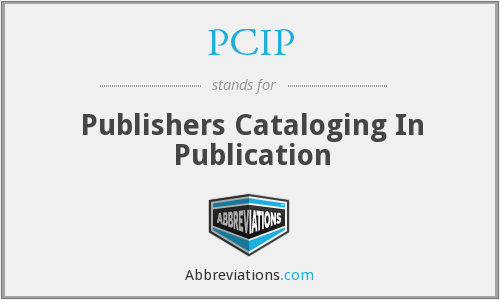 PCIP - Publishers Cataloging In Publication