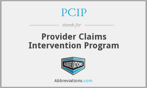 PCIP - Provider Claims Intervention Program
