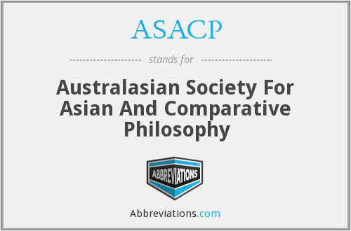 ASACP - Australasian Society For Asian And Comparative Philosophy