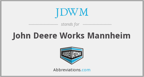 What does JDWM stand for?