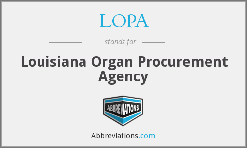 LOPA - Louisiana Organ Procurement Agency