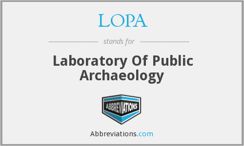 LOPA - Laboratory Of Public Archaeology