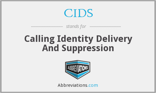 CIDS - Calling Identity Delivery And Suppression