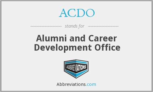 ACDO - Alumni and Career Development Office