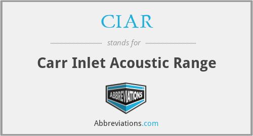 CIAR - Carr Inlet Acoustic Range