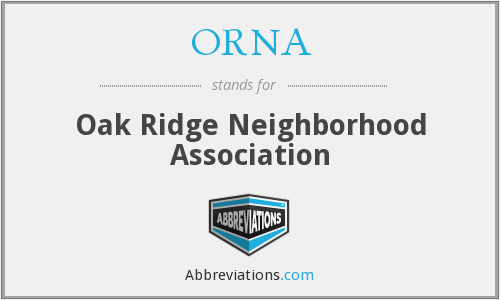 ORNA - Oak Ridge Neighborhood Association