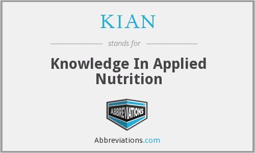 KIAN - Knowledge In Applied Nutrition