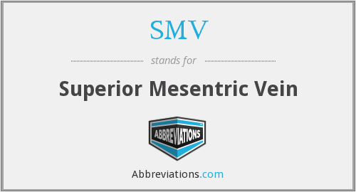 What is the abbreviation for superior mesentric vein?