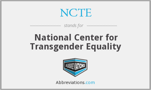 NCTE - National Center for Transgender Equality