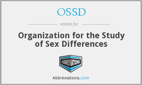 OSSD - Organization for the Study of Sex Differences