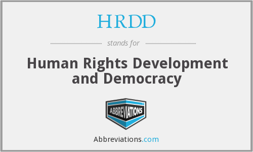 HRDD - Human Rights Development and Democracy