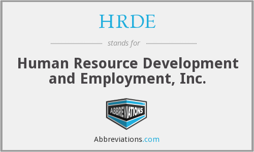 HRDE - Human Resource Development and Employment, Inc.