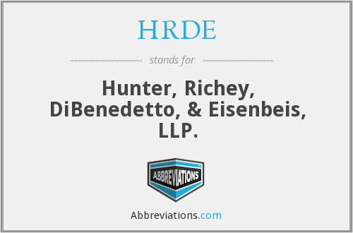 HRDE - Hunter, Richey, DiBenedetto, & Eisenbeis, LLP.