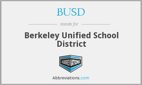 BUSD - Berkeley Unified School District