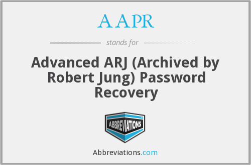 AAPR - Advanced ARJ (Archived by Robert Jung) Password Recovery