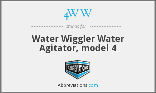 4WW - Water Wiggler Water Agitator, model 4