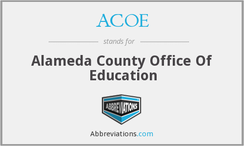 ACOE - Alameda County Office Of Education