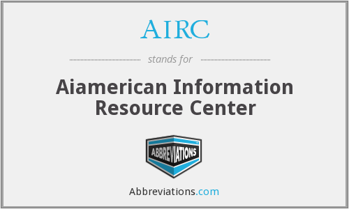 AIRC - Aiamerican Information Resource Center