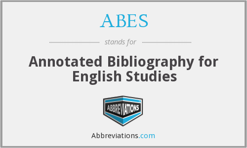 ABES - Annotated Bibliography for English Studies