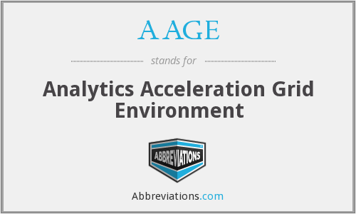 AAGE - Analytics Acceleration Grid Environment