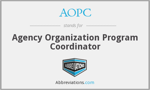 AOPC - Agency Organization Program Coordinator