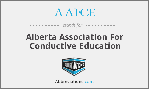 AAFCE - Alberta Association For Conductive Education